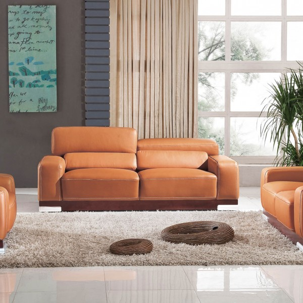 Orange Sofa Set 3 piece