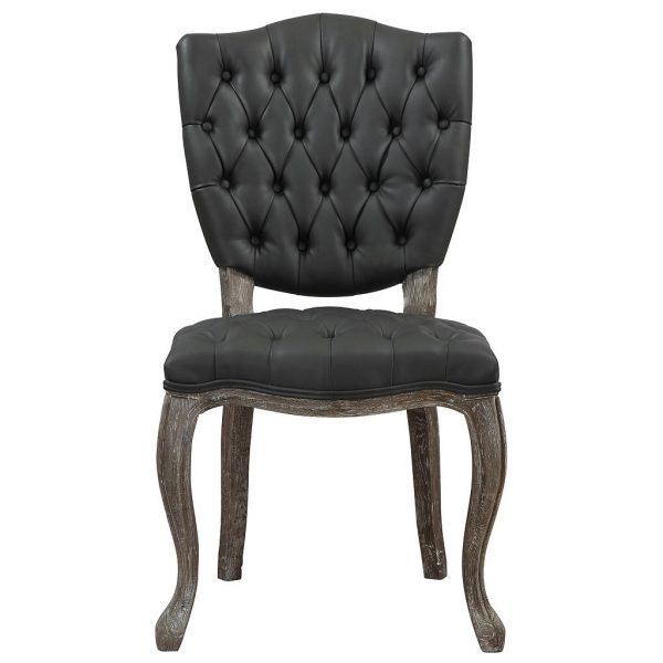 Amelia Weathered Oak Linen Dining Chair