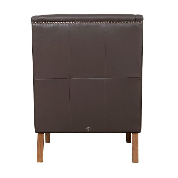 Chelsea Leather Wing Chair Grey Back