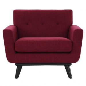 James Linen Chair Red Front