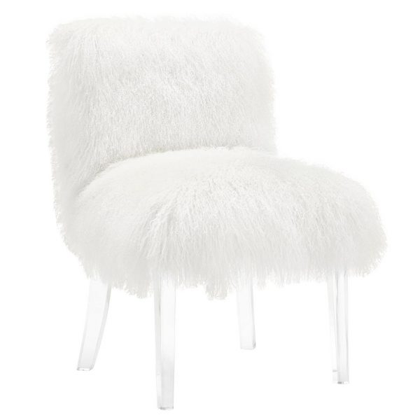 Sophie Sheepskin Lucite Side