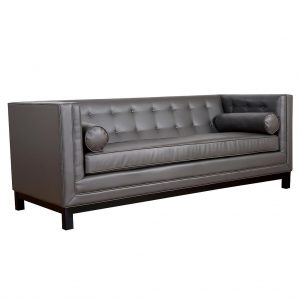 Zoe Leather Sofa Grey